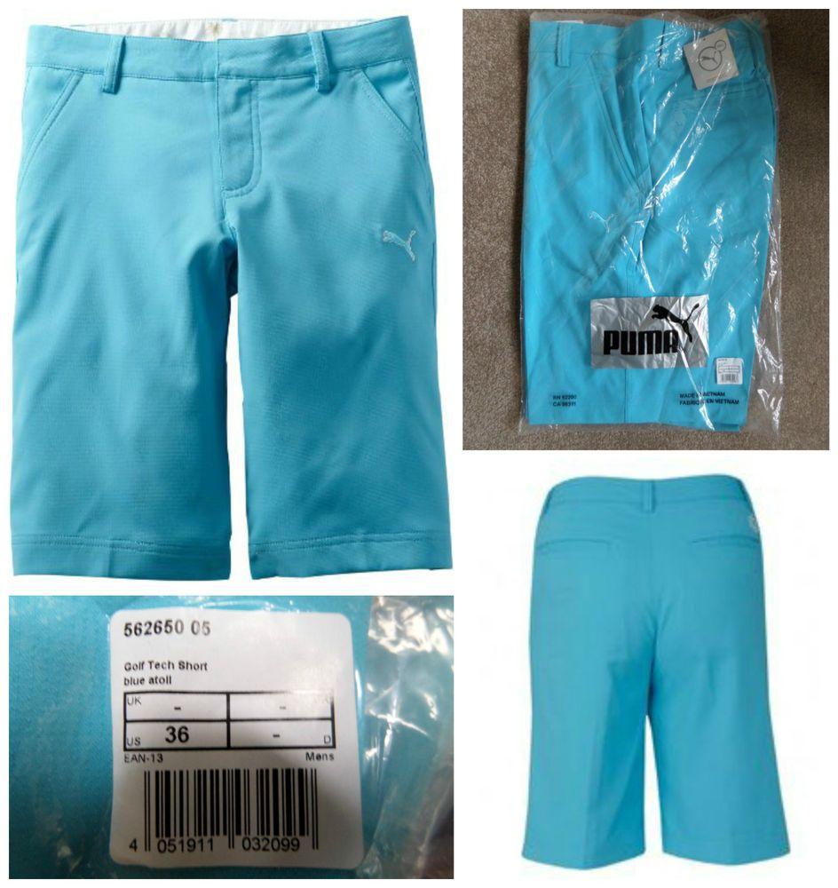 3519a7904780 Men s PUMA GOLF TECH SHORTS PRO PANTS TROUSERS RICKIE FOWLER BLUE ATOLL W36  £65