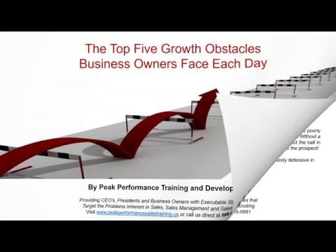 Sales Training Spotlight The Top Five Growth Obstacles Business