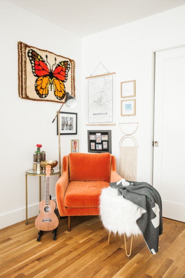 Matrix Persimmon Orange Chair is part of Retro home decor - Straight off the Paris runway, circa 1970  Rounded proportions and wooden legs give this compact chair a stylish edge while its size and comfort make it perfect for small space living  Shop Now!
