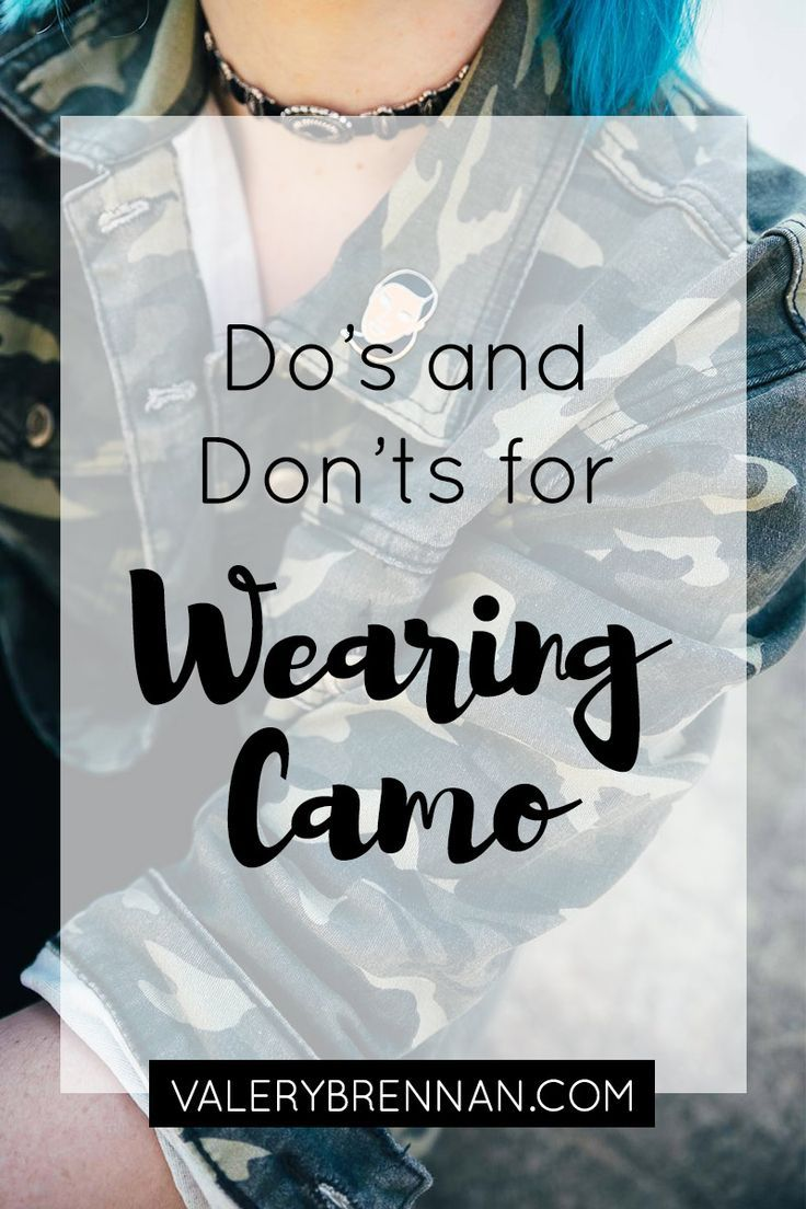 Styling a camo jacket with all black is a super chic and easy way to wear the camo trend. Not sure how to wear camo? Click through for 7 dos and don'ts on how to style camo!