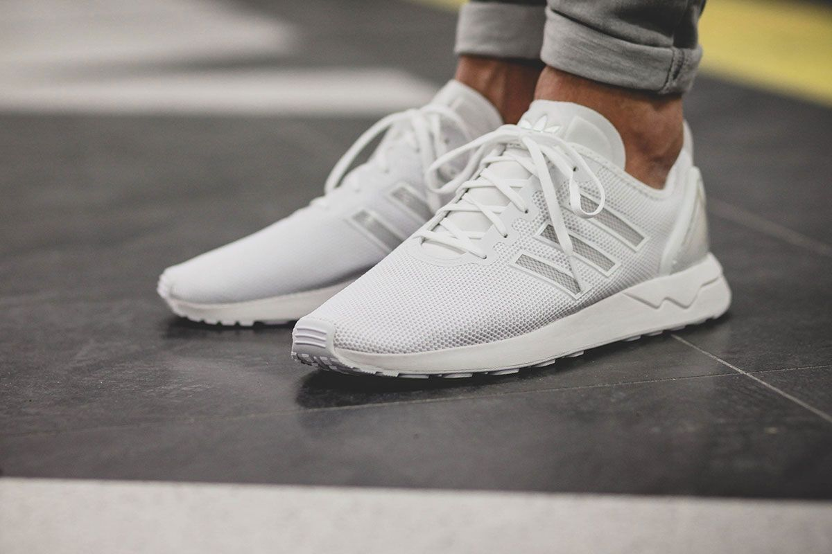 2a9c8763fce91 adidas Originals presents an interesting update to the popular ZX Flux in  the form of the ZX Flux Adv in all white.
