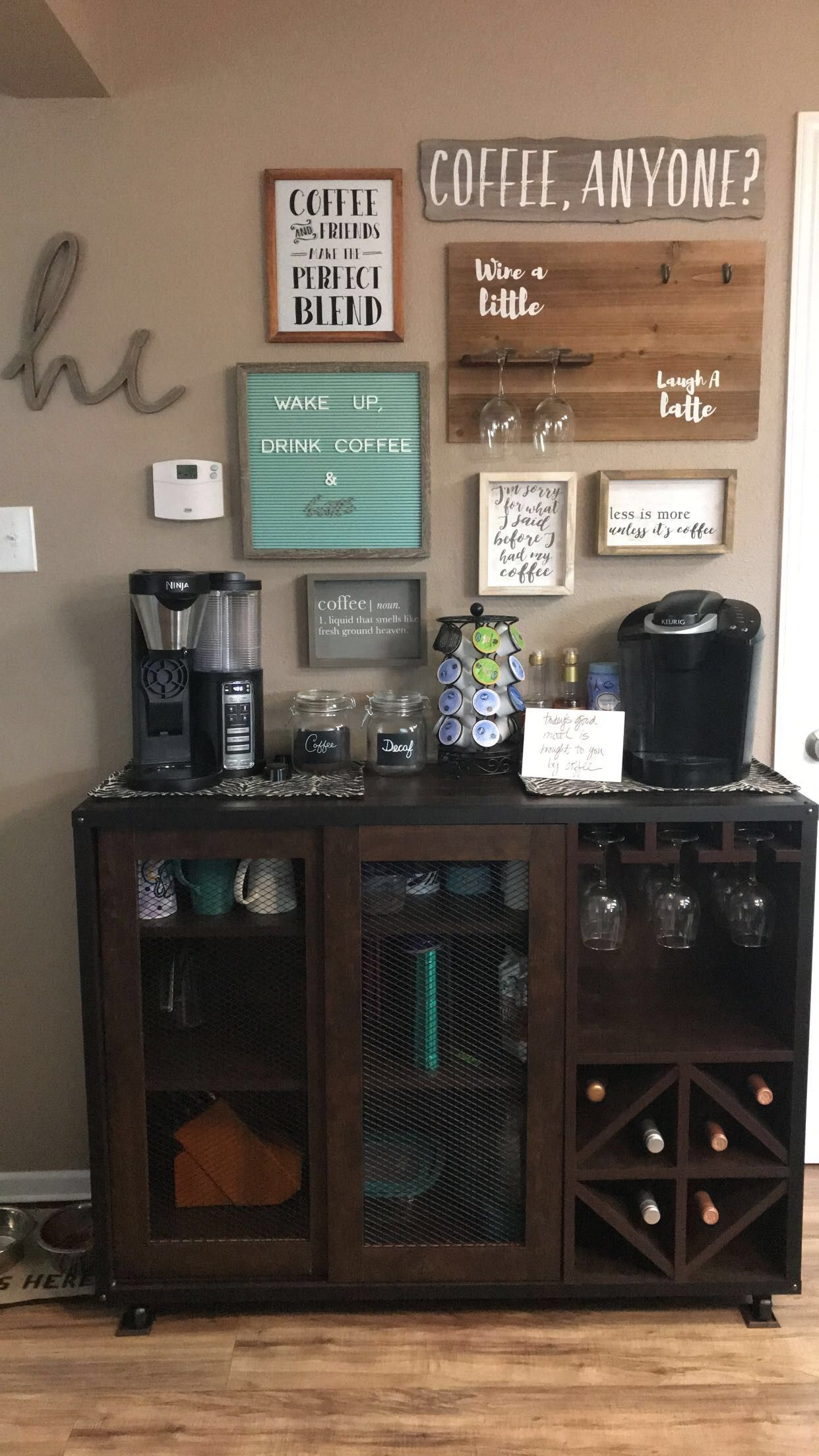 15 Exceptional DIY Coffee Bar Ideas for Your Cozy Home #coffeebarideas