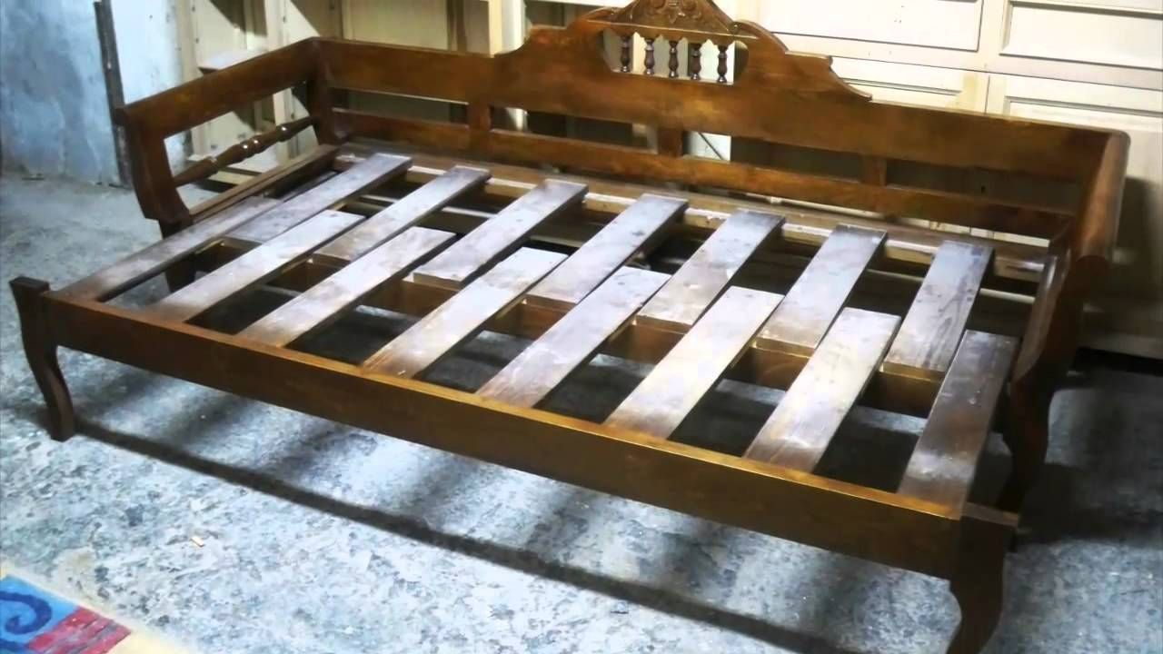 sofá-cama de madera … | Pinteres…