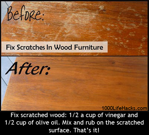 Fix Scratched Wood