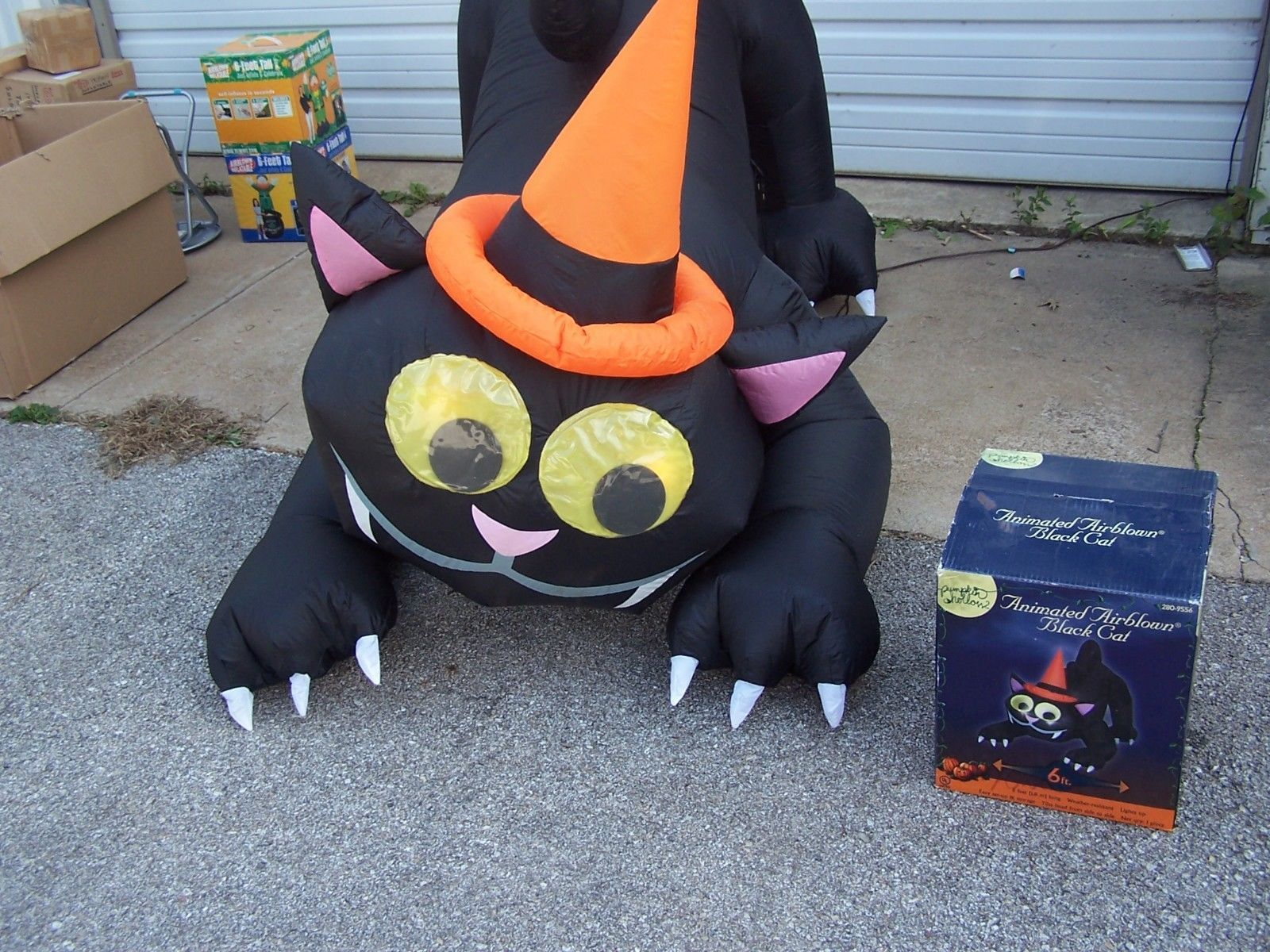 6 airblown inflatable animated moving cat halloween yard decoration lighted ebay - Ebay Halloween Decorations