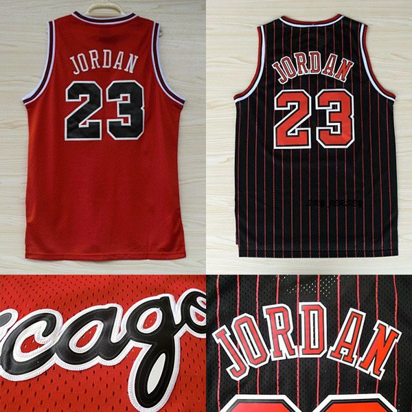 Air Jordan Jersey.throwback De Bande Black.red