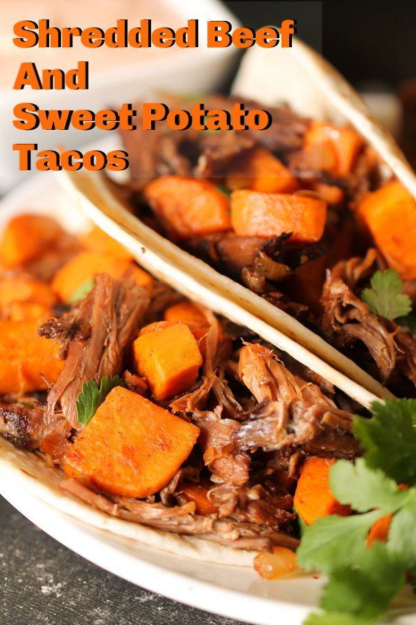 Shredded Beef and Sweet Potato Tacos images