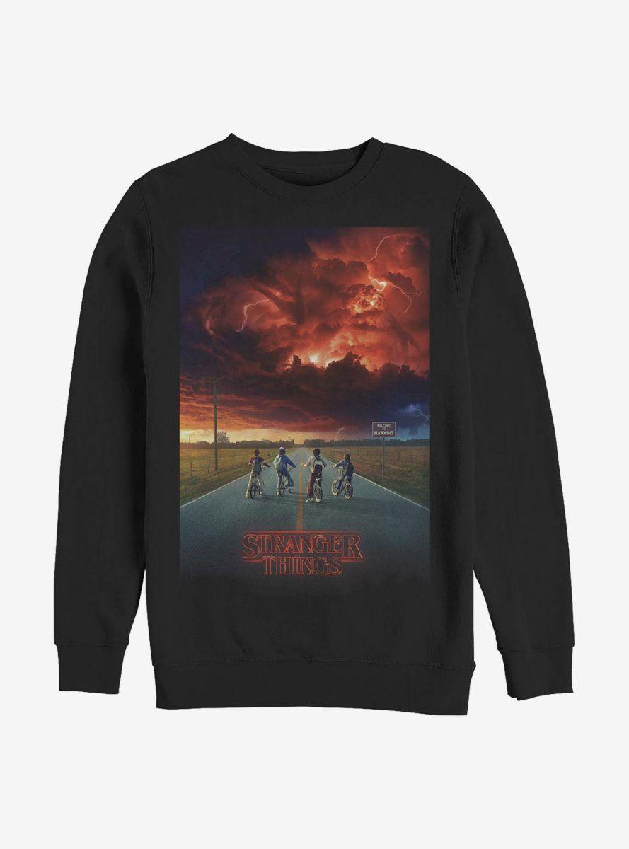 Stranger Things Demogorgon Cloud Poster Crew Sweatshirt Sweatshirts Crew Sweatshirts Stranger Things Shirt [ 1200 x 889 Pixel ]