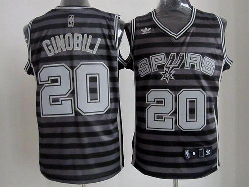 Spurs  20 Manu Ginobili Black Grey Groove Stitched NBA Jersey  cc8df924f