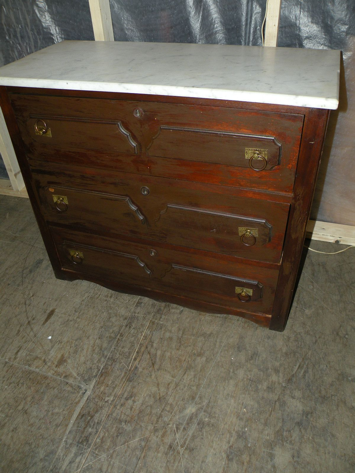 1800 S Antique Marble Top Bedroom Dresser Chest Ebay