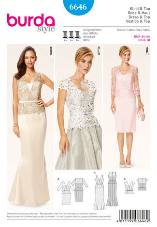 Abendkleider schnittmuster mode