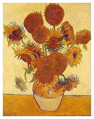 VIDA Leather Accent Tag - Yellow Sunflower Van Gogh by VIDA