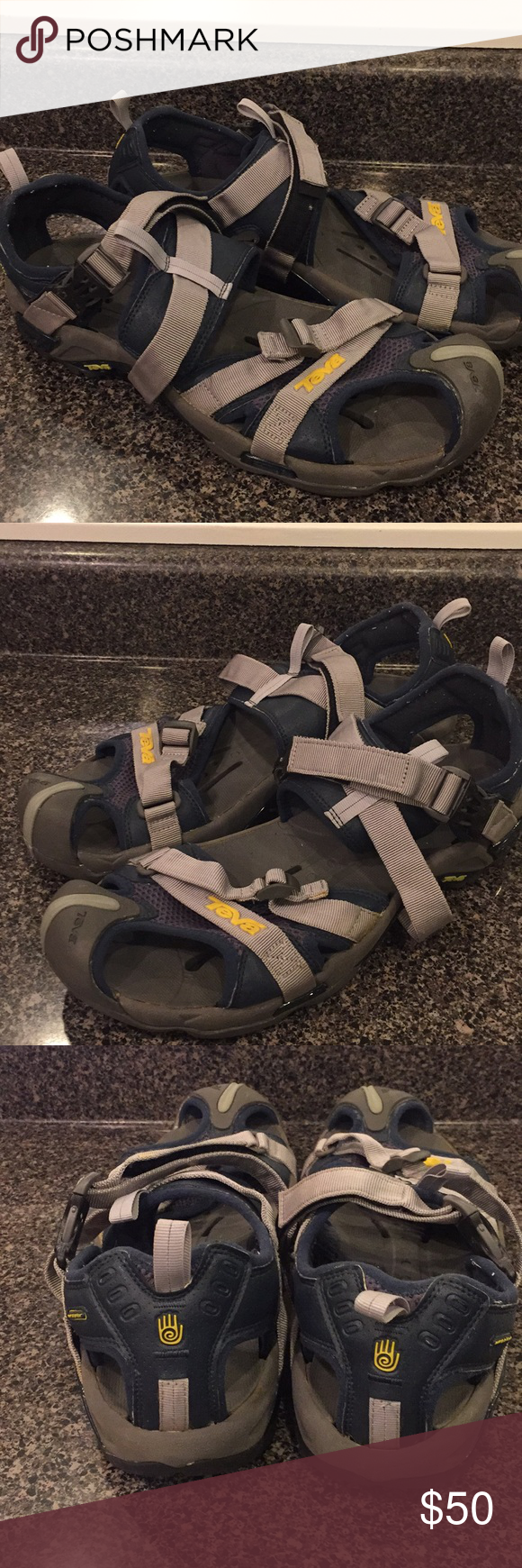 732306105 Size 14 Teva Karnali Wraptor Close Toe Adj. Sandal Used Size 14 Teva  Karnali Wraptor Closed Toe Adjustable Sandal Slight Yellowing on straps.