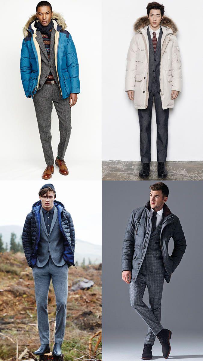 c03af21113e1 Мужские костюмы с Puffer куртки зимнее снаряжение Вдохновение ...