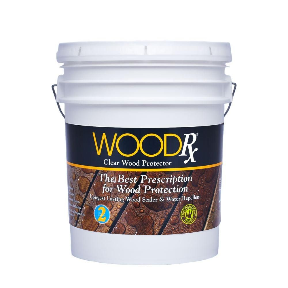 Woodrx 5 Gal Clear Water Repellent Exterior Stain Wood Sealer Mahogany Wood Stain