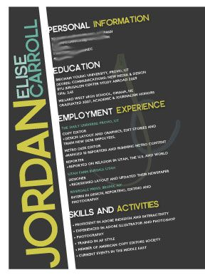 1000+ images about creative resumes on Pinterest | Cool resumes ...