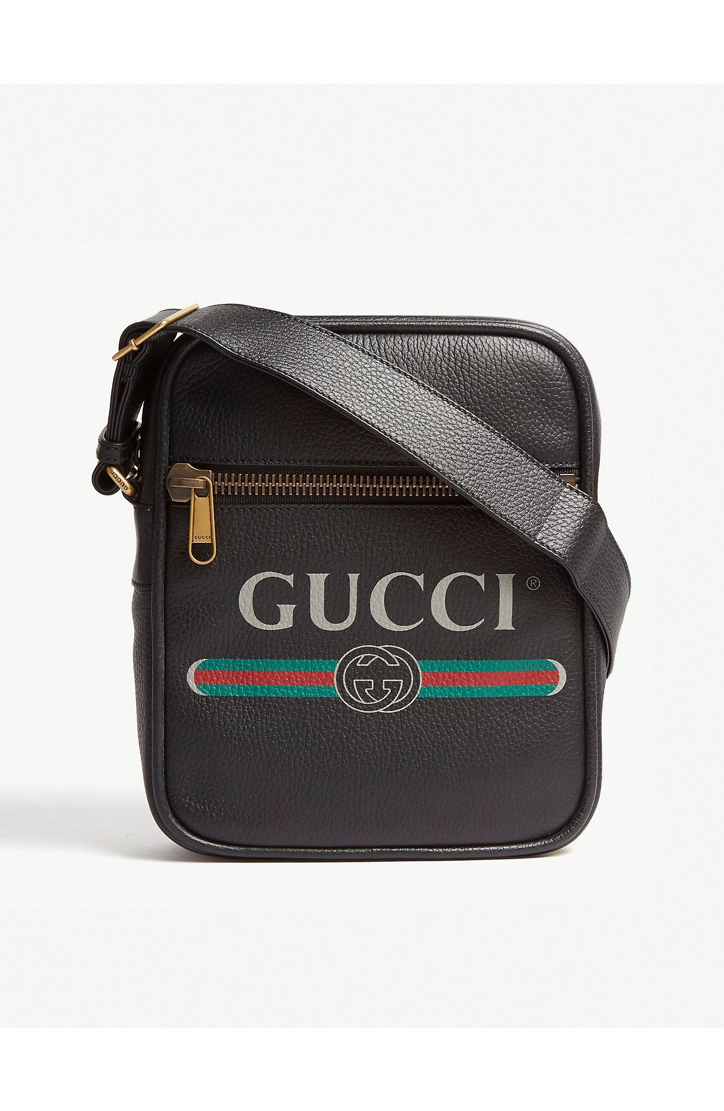 GUCCI - Leather messenger bag   Selfridges.com   Bolsa Masculina em ... fb9a7b0db8