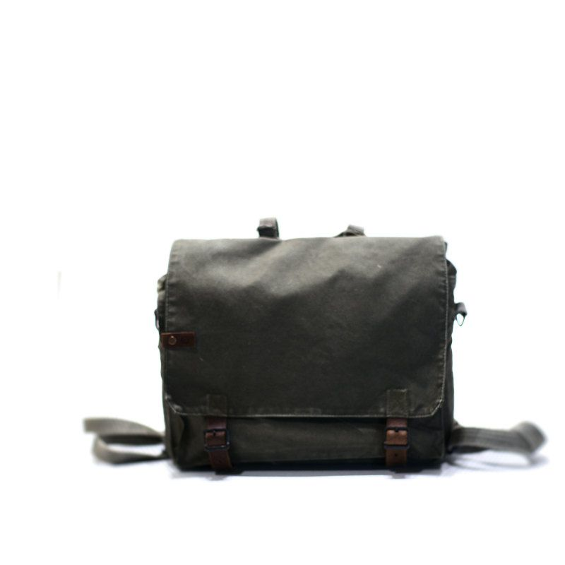 Canvas backpack, recycled rucksack