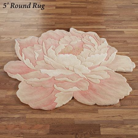 Juliette Round Peony Flower Shaped Rugs