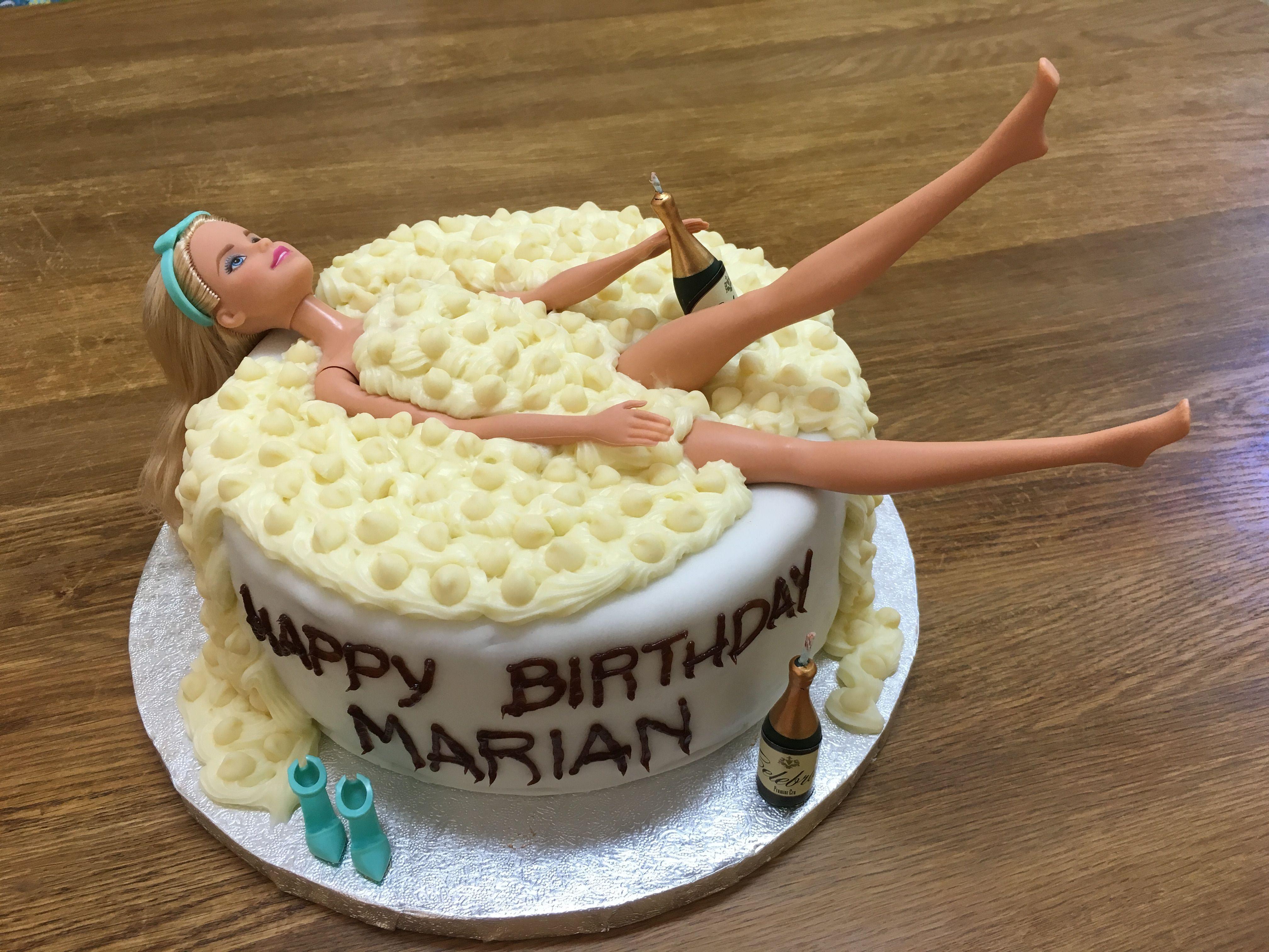 Barbie in the bathtub wonderful cake for my friend Marian