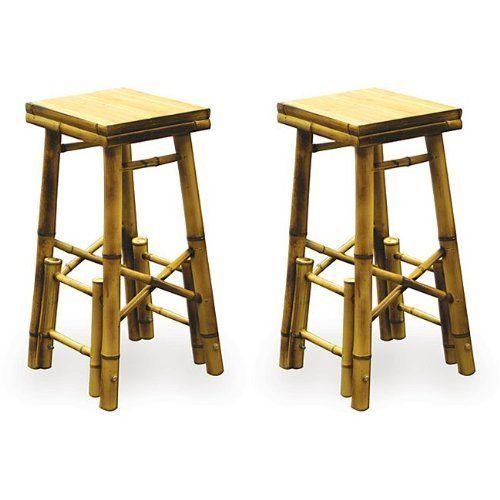 Bamboo Bar Stool Set Of 2 By Buffalo Tools 65 87 Indoor And