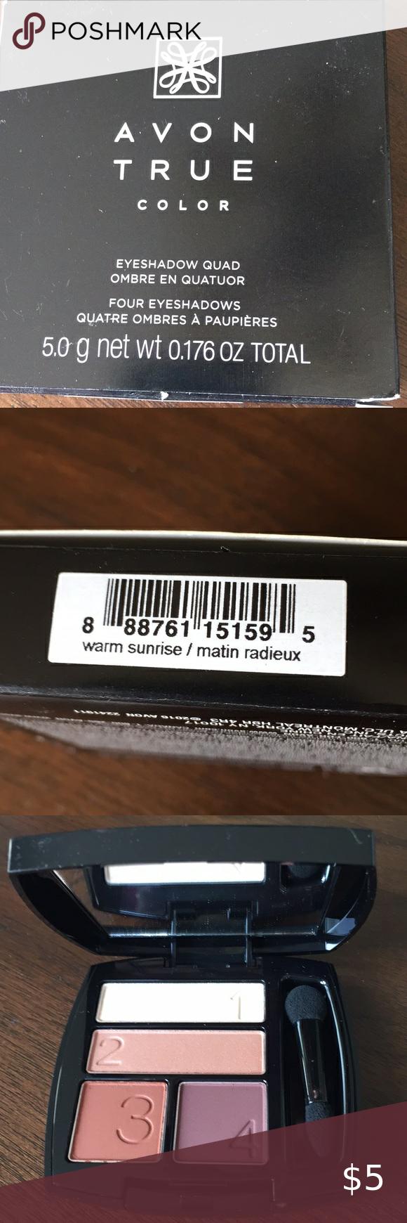 Avon True Perfect Wear Eyeshadow Quad In Barely Blush   eBay