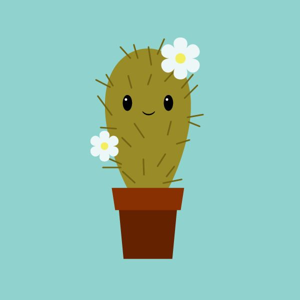 Cute Character Design Illustrator : Create a cute cactus illustration in illustrator