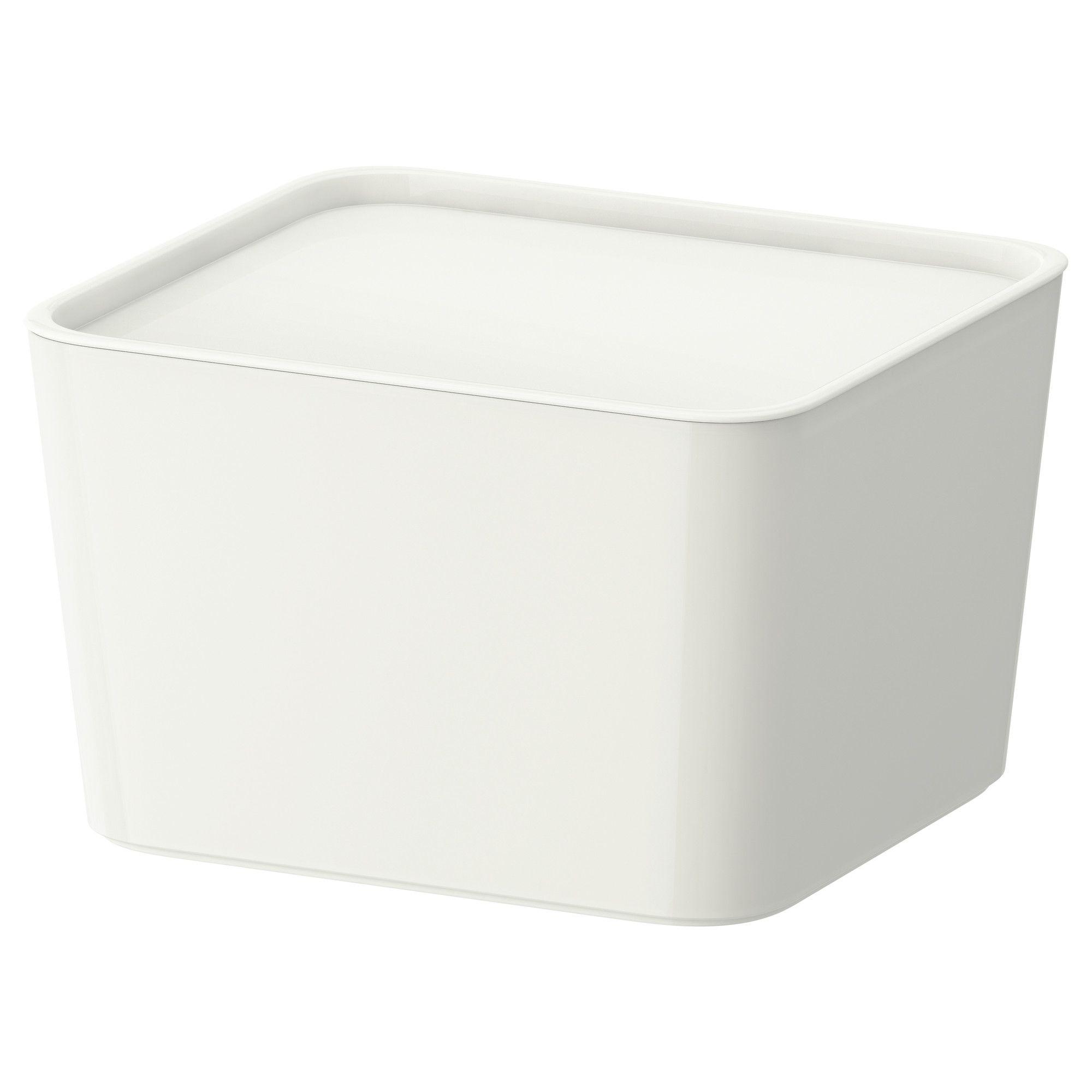 PLUGGIS Kannellinen laatikko - 27x24x16 cm - IKEA