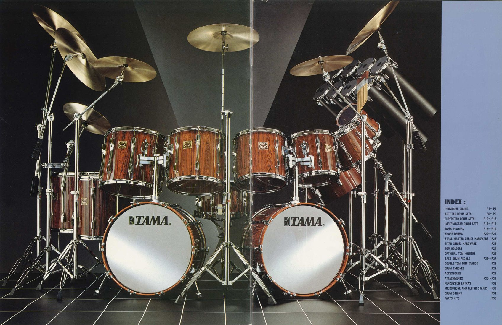 catalogue 1983 tama drums drum kits music drum lessons. Black Bedroom Furniture Sets. Home Design Ideas