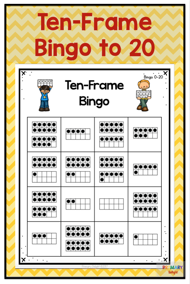 Ten Frame Bingo to 20 | Ten frames, Math and Kindergarten