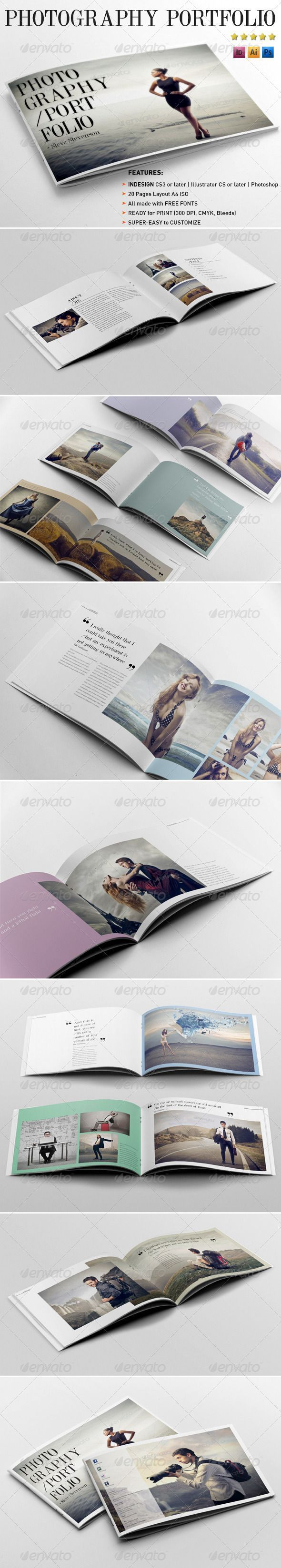 photography portfolio template brochures print templates