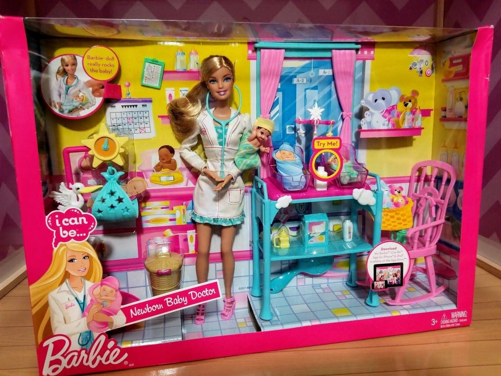 Newborn Baby Doctor Barbie Play Set With Images Baby Doctor