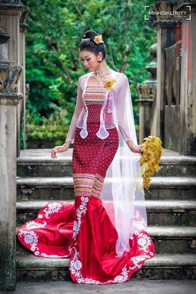 Myanmar Wedding Dress | Myanmar Wedding Dress | Pinterest | Asian ...