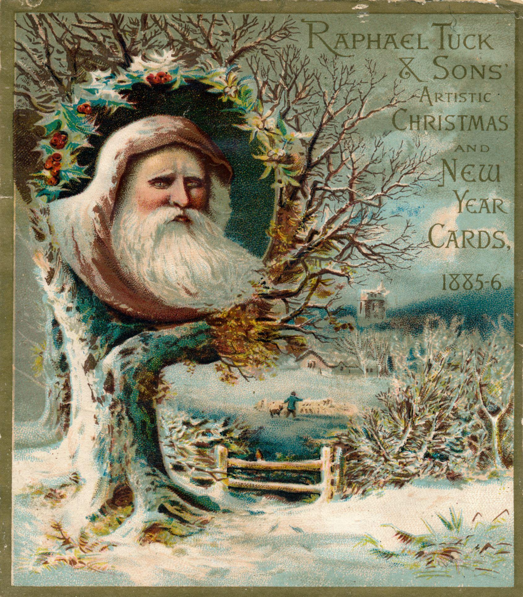 victorian tuck christmas card advertisement