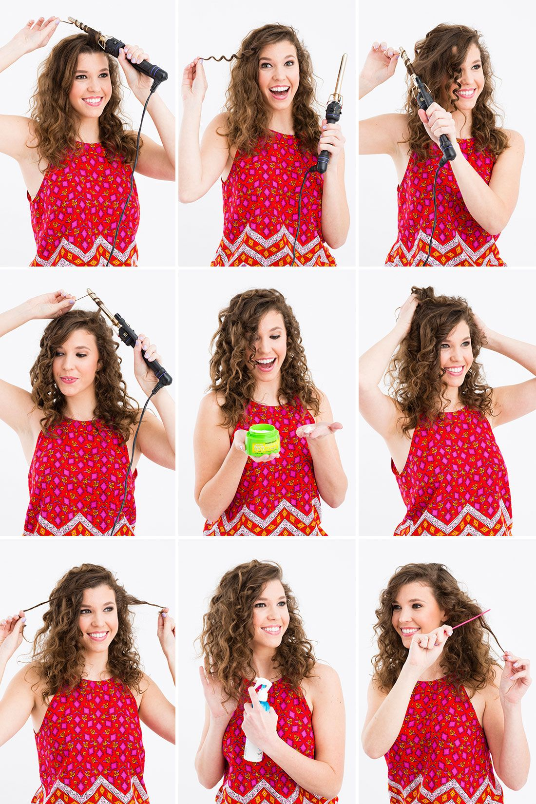 use a 1/4-inch curling iron to diy this 'do. | beauty from brit +