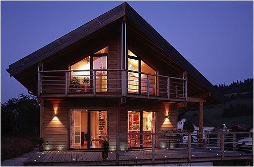 1000 images about maison en bois on pinterest construction nantes and chalets - Maison En Bois Moderne