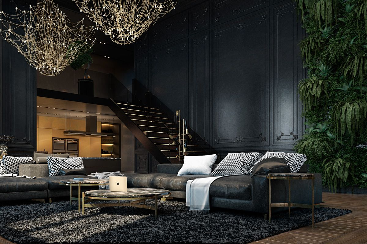 3 living spaces with dark and decadent black interiors black decadent interiors living spaces