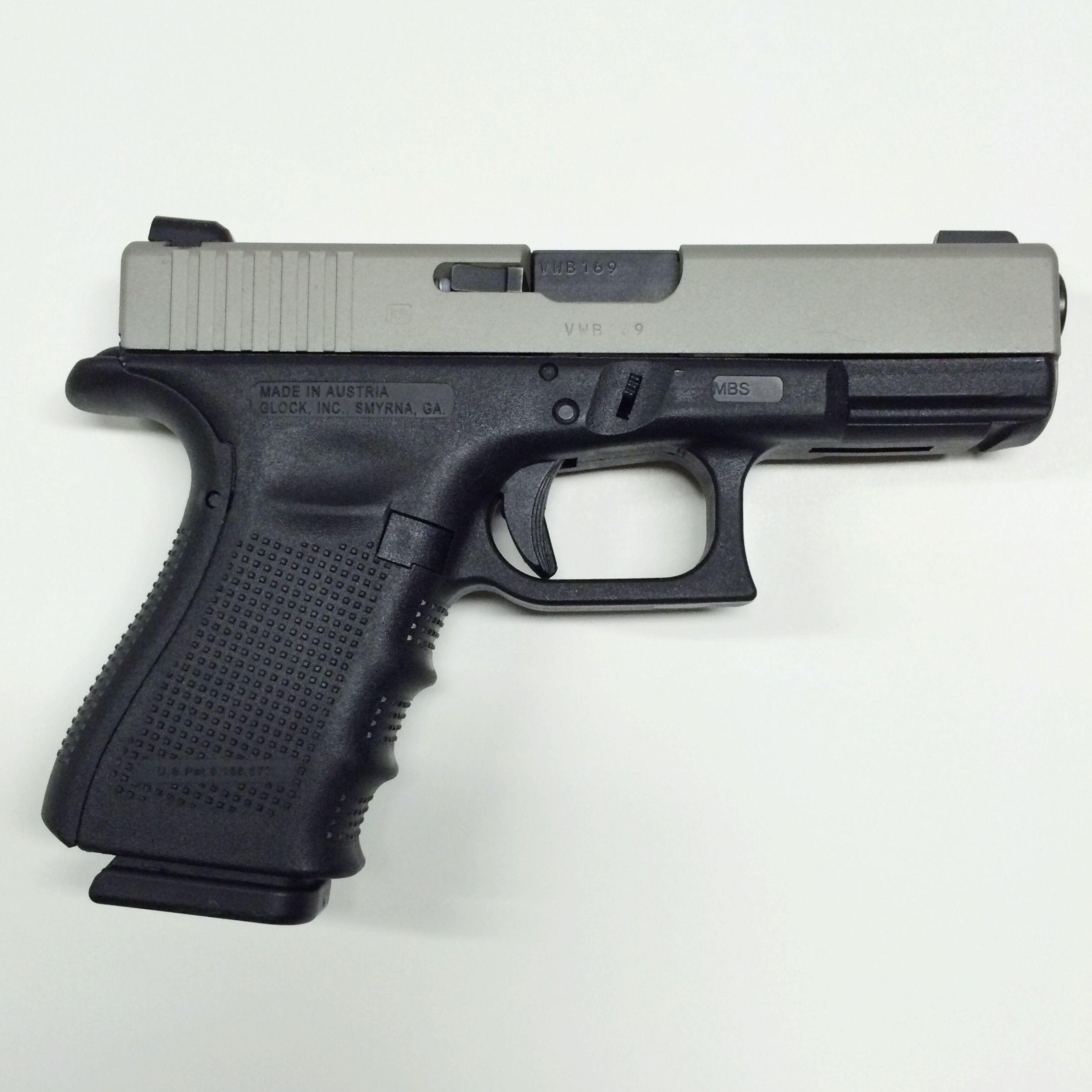 Glock 23, Gen 4 40 caliber, with an NiB-X slide finish that provides ...