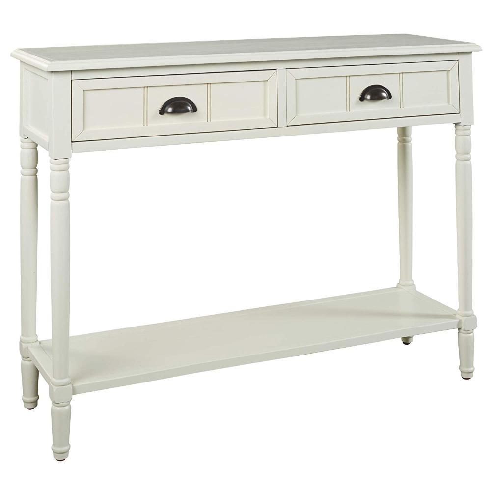Amazon Com Signature Design By Ashley Goverton Console Sofa Table Vintage Casual White Kitchen Dining G Ashley Furniture White Sofa Table Sofa Table