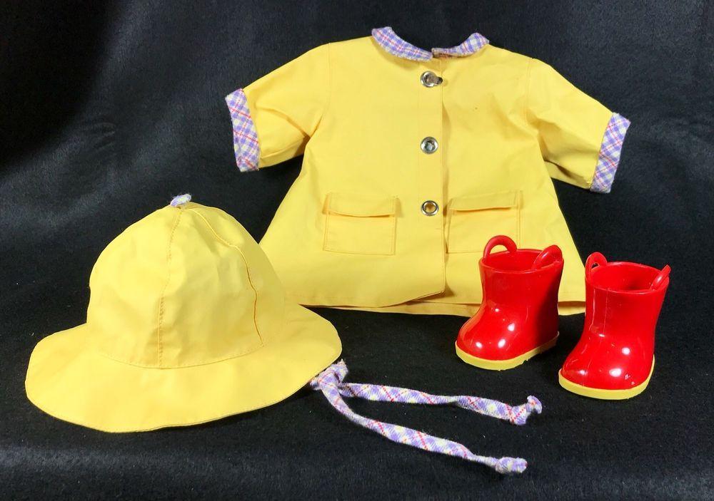 Retired 1999 American Girl Bitty Baby Yellow Rain Slicker 460e0693d13