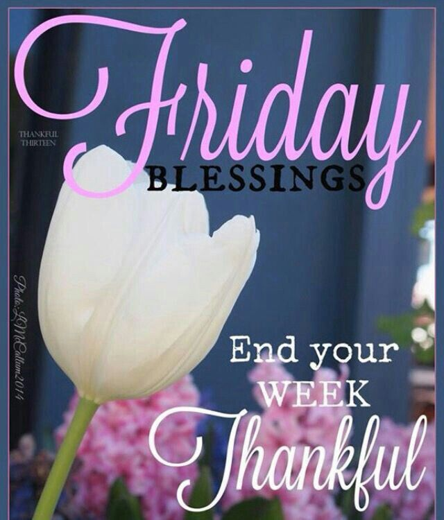 Friday Blessings End Your Week Thankful Friday Friday Quotes Friday