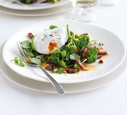 Tenderstem broccoli chorizo with poached eggs recipe recipes tenderstem broccoli chorizo with poached eggs recipe recipes bbc good food forumfinder Choice Image