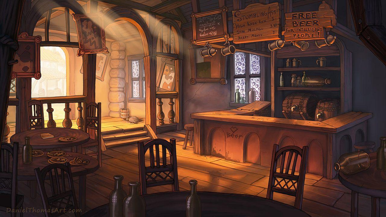 ArtStation A Playwright's Tale, Daniel Thomas Paisagem