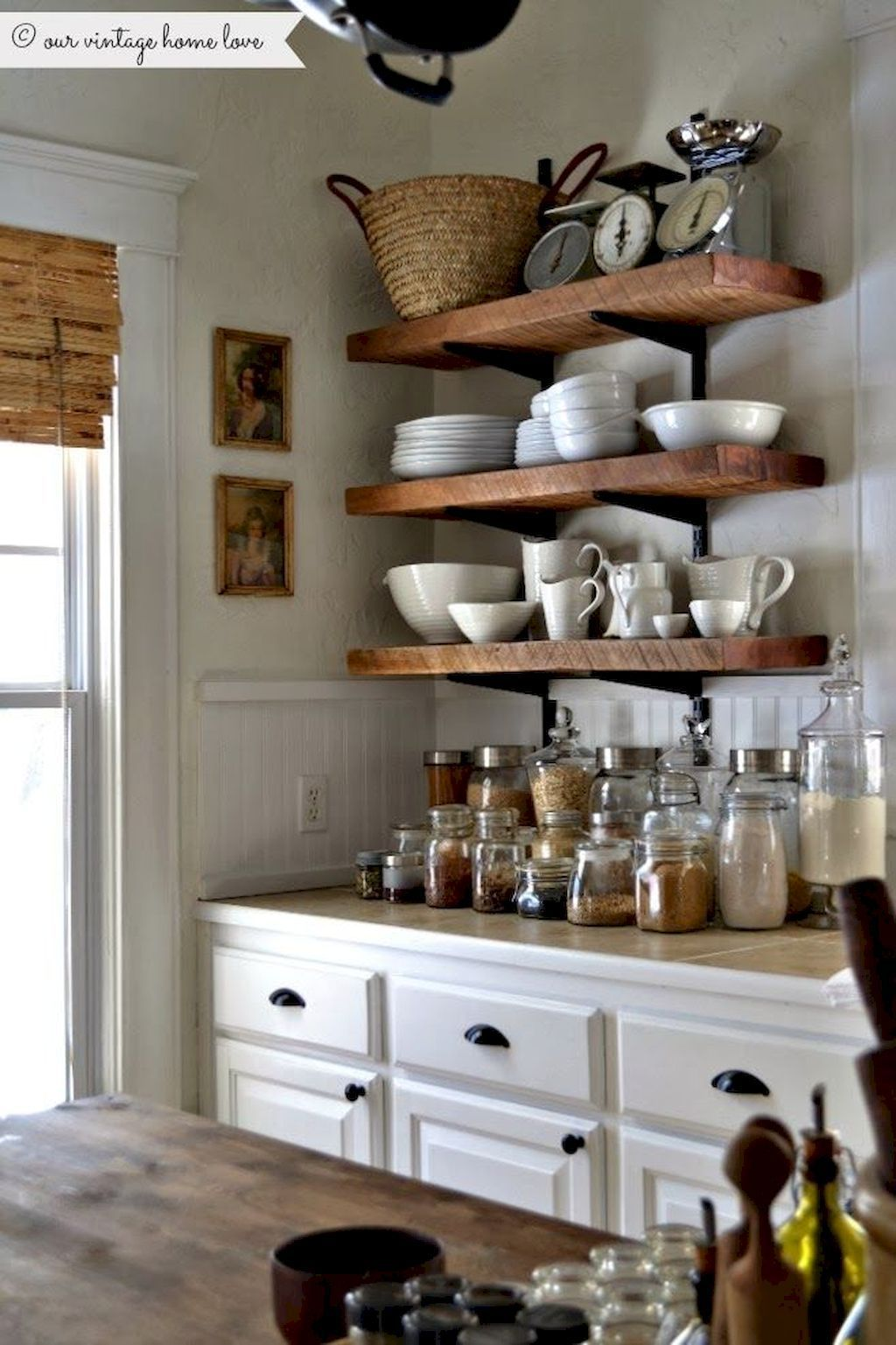 Rustic kitchen cabinets wood shelves in kitchen rustic shelves kitchen shelving units