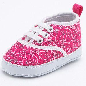 Hayley Pre Walker Shoes - Fuchsia Print