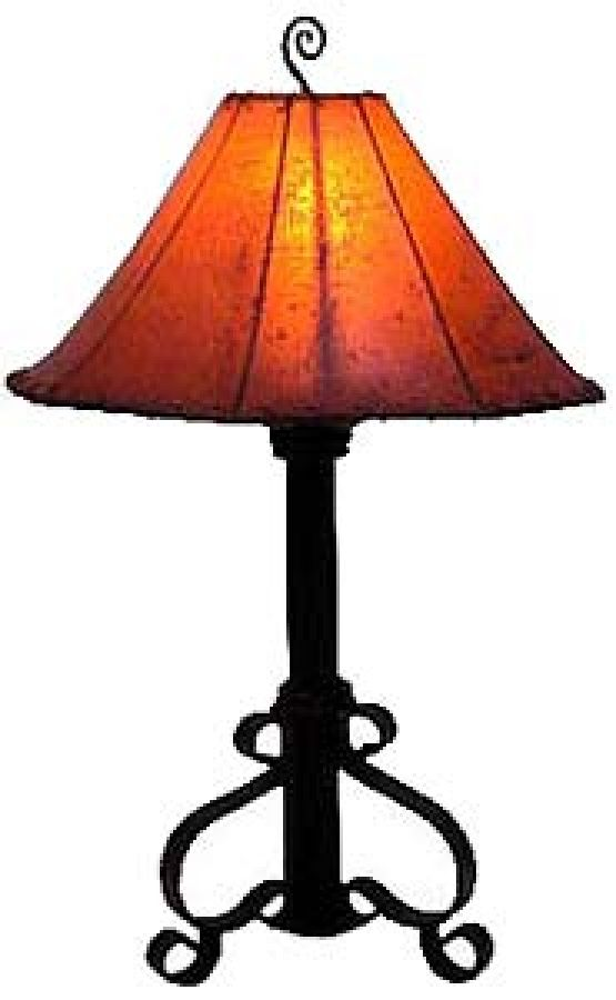 Hand Made Wrought Iron Table Lamp Lighting Iron Table Wrought