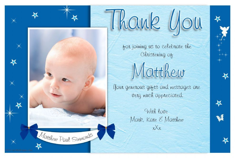How to create baptism thank you cards templates thank for Baptism thank you card template
