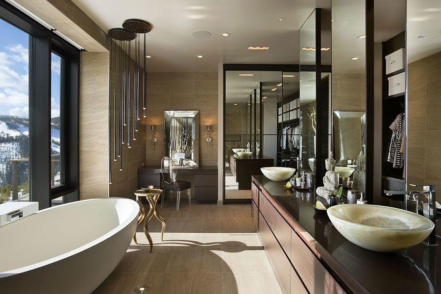 Luxury Ski Residence In Montana Modern Bathroom DesignModern
