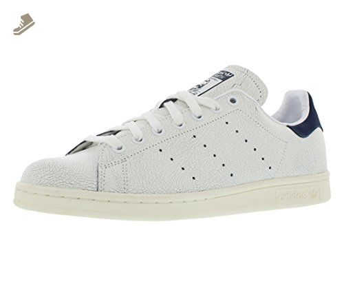 best sneakers 2b65c 71eb0 Adidas Stan Smith W (Cracked Leather) - White   Navy, 9 B US - Adidas  sneakers for women ( Amazon Partner-Link)