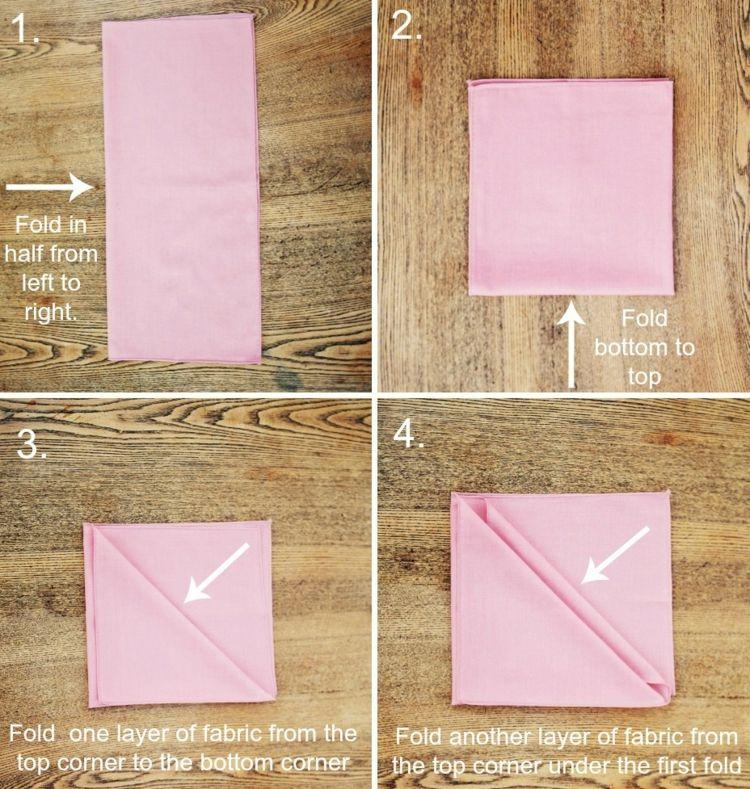 Bestecktasche Falten bestecktasche falten eine einfache anleitung hochzeit